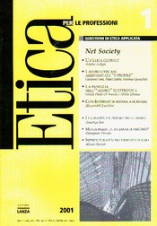 Etica per le Professioni. NET SOCIETY  Etica per le Professioni Rivista   Fondazione Lanza