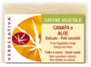 Sapone Vegetale Canapa e Aloe     Verdesativa
