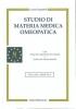 Studio di Materia Medica Omeopatica (Vecchia edizione)  Lucia Gasparini   Salus Infirmorum