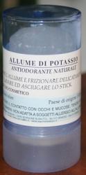 Allume di potassio stick 100gr     Carone snc