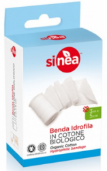 Benda Idrofila in Cotone Biologico (3m x 5cm)     Sinea