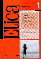 Etica per le Professioni - PRIVACY  Etica per le Professioni Rivista   Fondazione Lanza