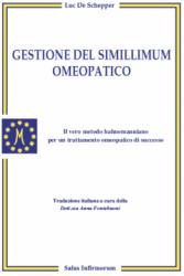 Gestione del simillimum omeopatico (Copertina rovinata)  Luc De Schepper   Salus Infirmorum
