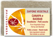 Sapone Vegetale Canapa e Baobab     Verdesativa