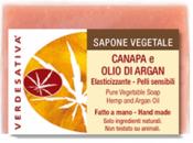 Sapone Vegetale Canapa e Olio di Argan     Verdesativa