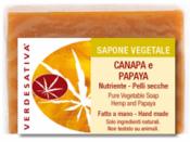 Sapone Vegetale Canapa e Papaya     Verdesativa