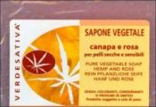 Sapone Vegetale Canapa e Rosa     Verdesativa