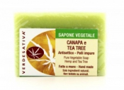 Sapone Vegetale Canapa e Tea Tree     Verdesativa