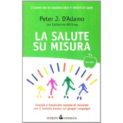 La salute su misura  Peter D'Adamo   Sperling & Kupfer