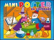 Mini Poster da Colorare - BLU  Autori Vari   Macro Junior