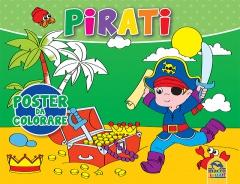 Pirati - Poster da colorare  Autori Vari   Macro Junior