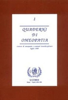 Quaderni di Omeopatia - 1° vol.  Pierre Schmidt   Cemon