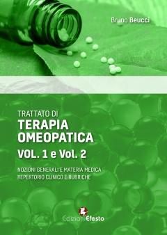 Trattato di terapia omeopatica (2volumi)  Bruno Beucci   Edizioni Efesto